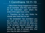 1 corinthians 10 11 13