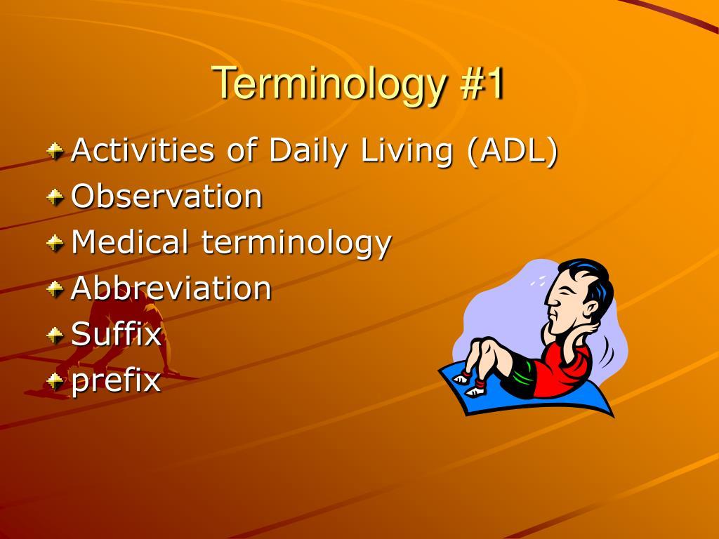 terminology 1 l.