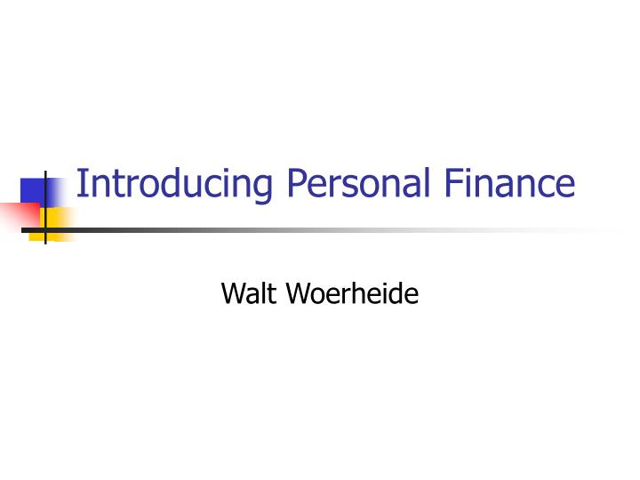 introducing personal finance n.