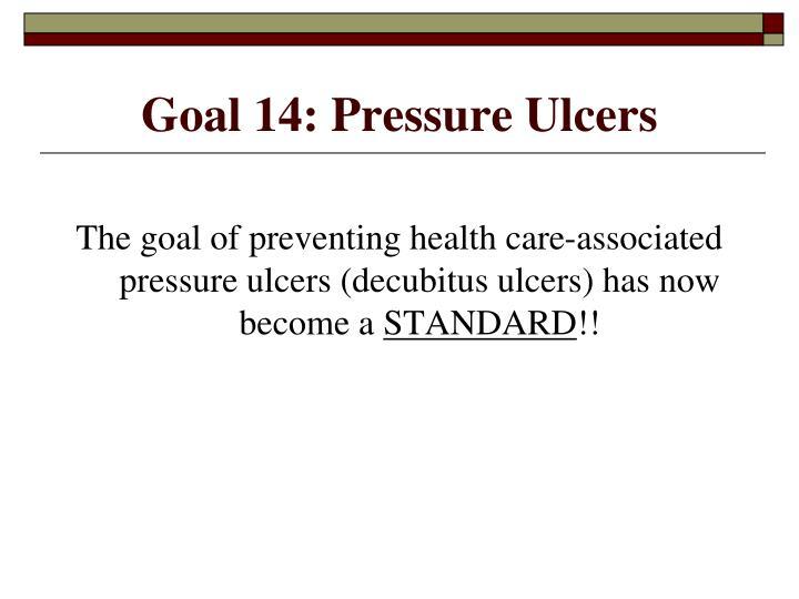Goal 14: Pressure Ulcers
