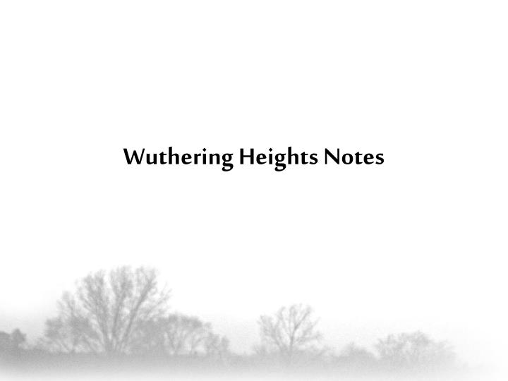 wuthering heights notes n.