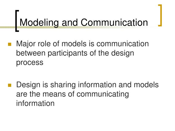 Modeling and Communication