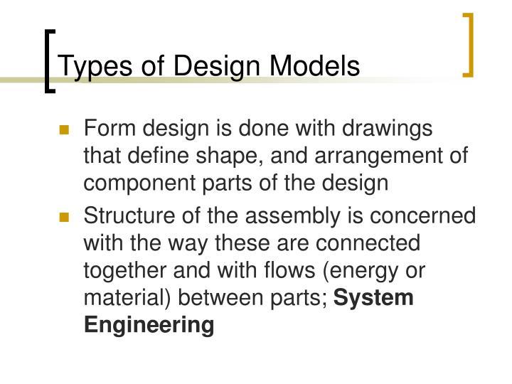 Types of Design Models