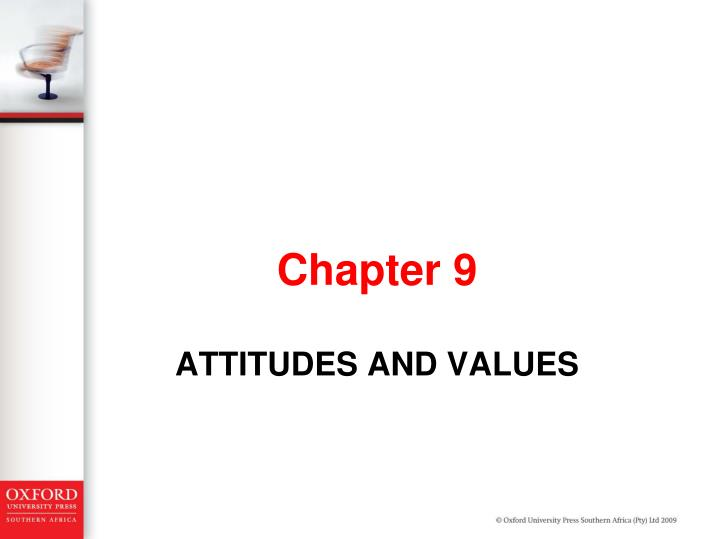 attitudes and values n.