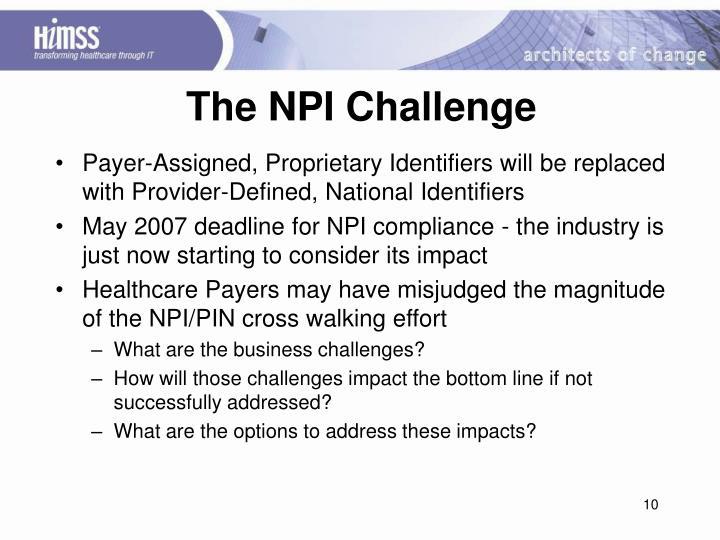 The NPI Challenge