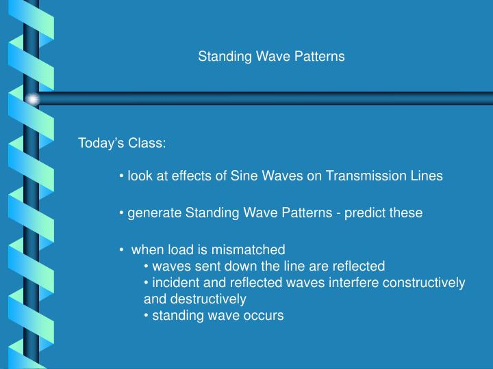 Standing Wave Patterns