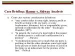 case briefing hamer v sidway analysis