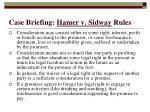 case briefing hamer v sidway rules