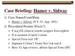 case briefing hamer v sidway