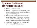 synthesis excitement hypothetical 1
