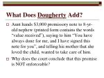 what does dougherty add