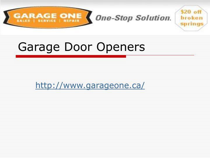 garage door openers n.