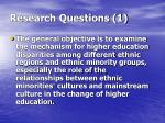 research questions 1