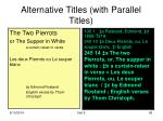 alternative titles with parallel titles