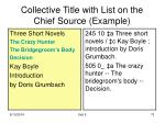 collective title with list on the chief source example