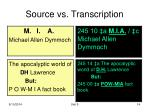 source vs transcription