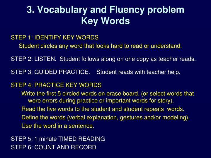 3. Vocabulary and Fluency problem