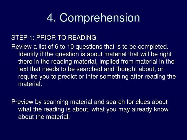 4. Comprehension