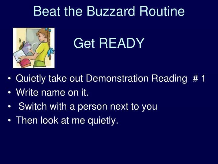 Beat the Buzzard Routine