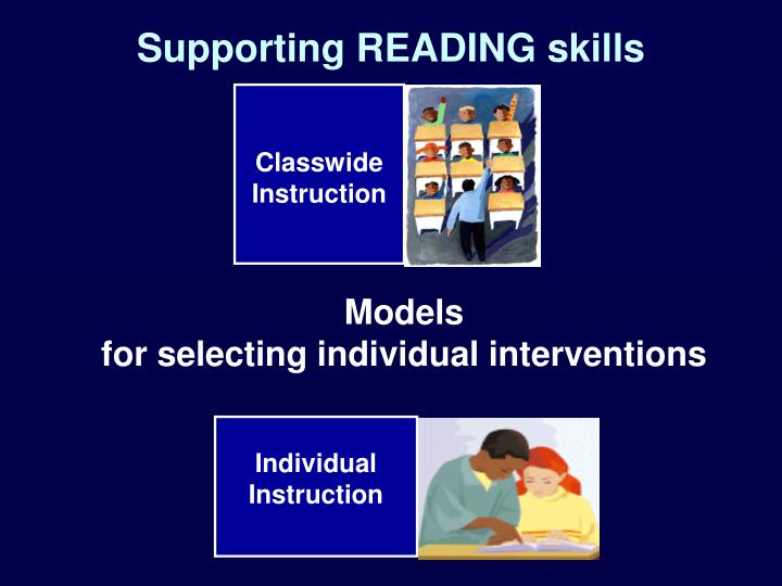 Supporting READING skills