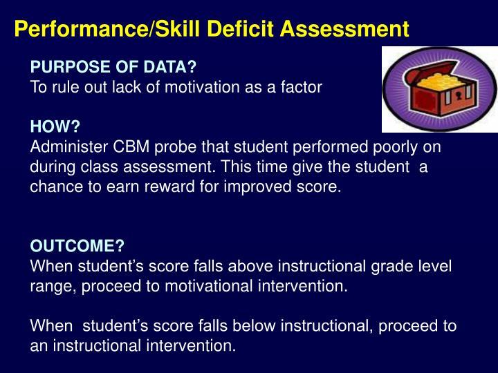Performance/Skill Deficit Assessment