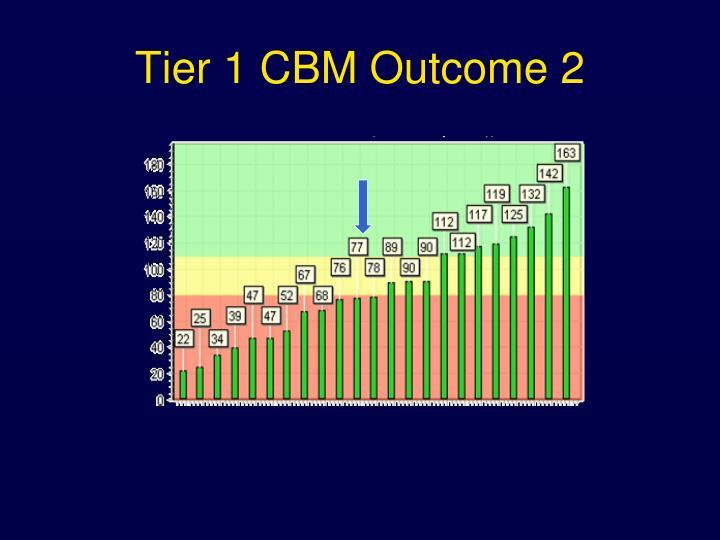 Tier 1 CBM Outcome 2