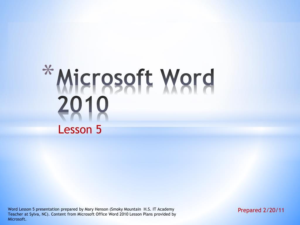 ppt microsoft word 2010 powerpoint presentation id 1456965