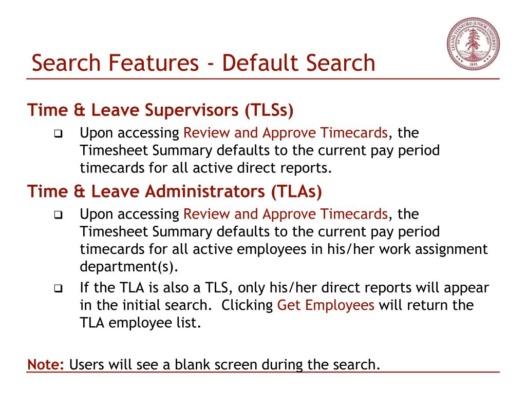 Search Features - Default Search