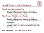 search features default search