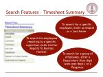 search features timesheet summary31
