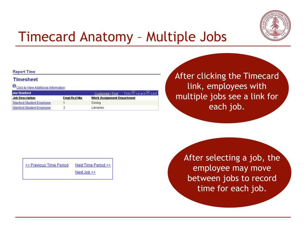 Timecard Anatomy – Multiple Jobs