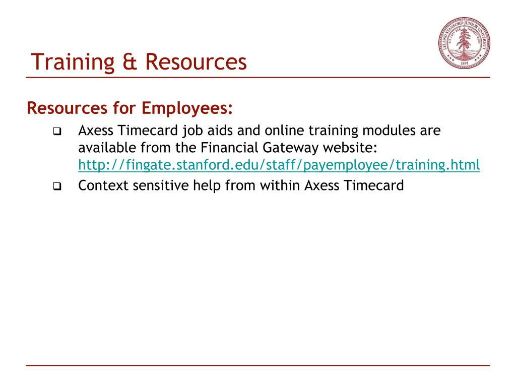 Training & Resources