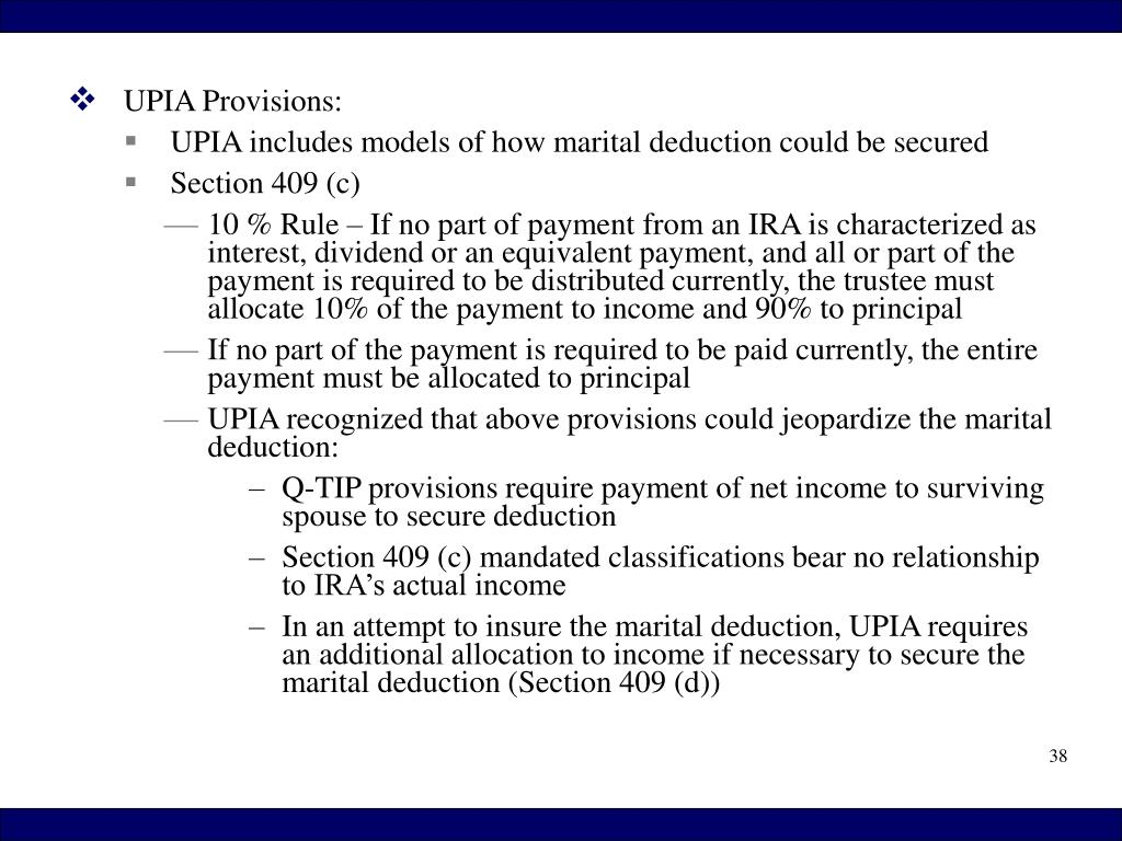 UPIA Provisions: