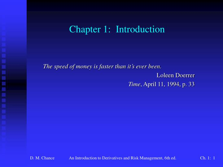 chapter 5 introduction to risk return
