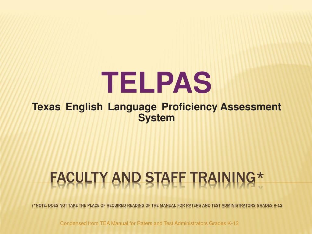 Grades 2-12 telpas holistic rater campus training. Ppt download.