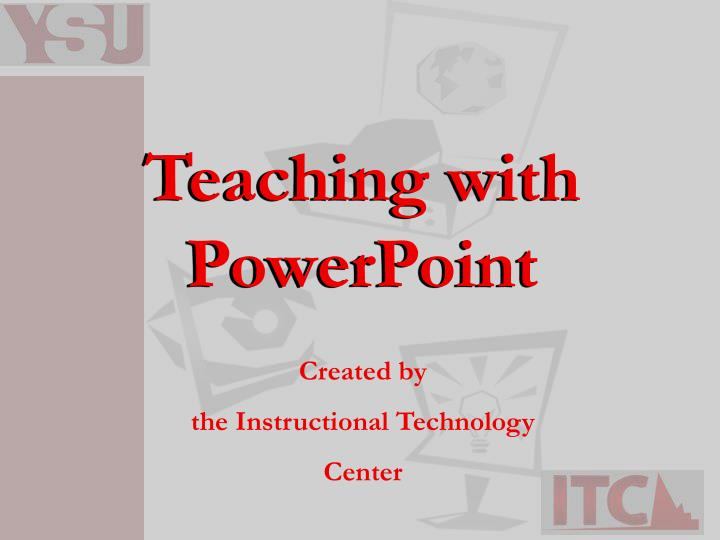teaching with powerpoint n.