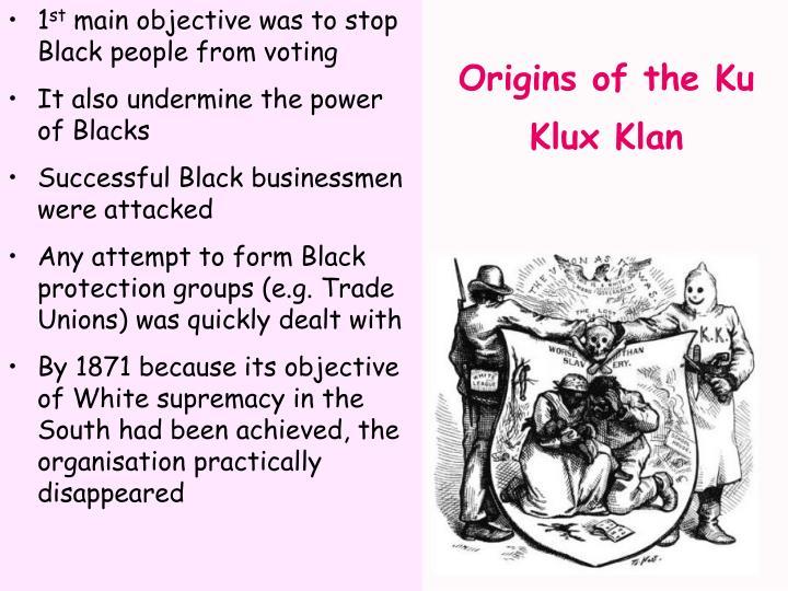 Origins of the ku klux klan1