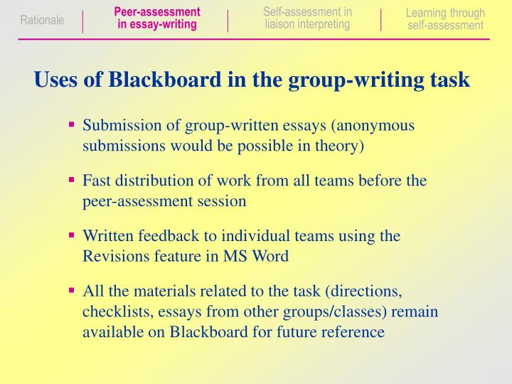writing essay assessment learning 'at the heart of assessment for learning is the process of finding out where learners are within the continuum, where they need to go and how best to get there' (decals, bibb) we will write a custom essay sample on any topic specifically for you for only $1390/page.