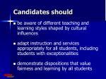 candidates should1