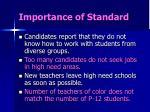 importance of standard