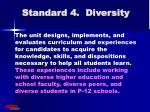 standard 4 diversity