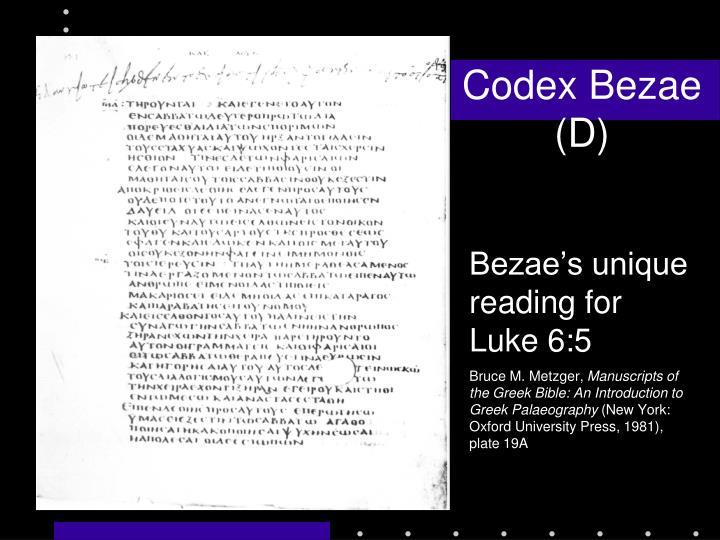Codex Bezae (D)