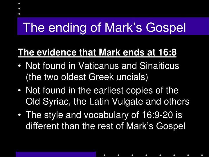 The ending of Mark's Gospel