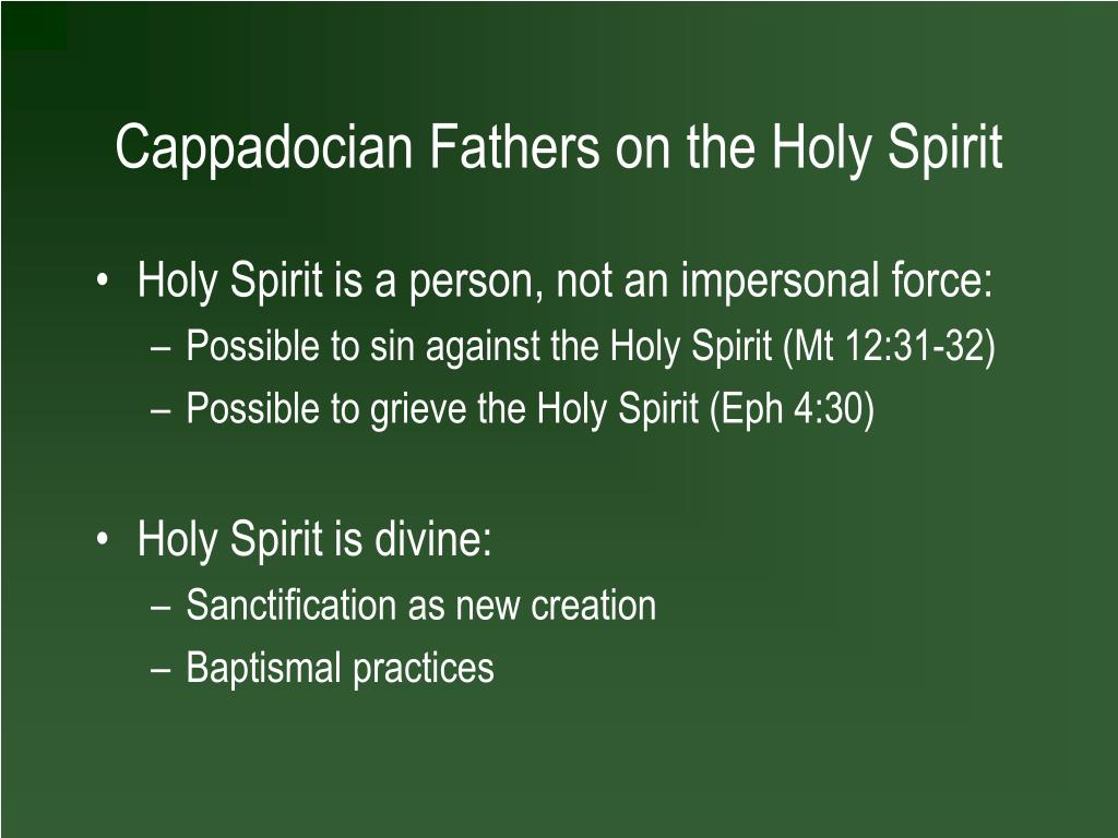 Cappadocian Fathers on the Holy Spirit