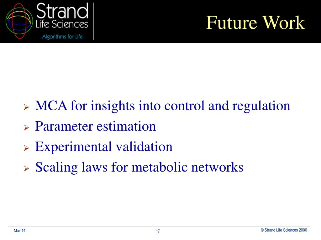 MCA for insights into control and regulation