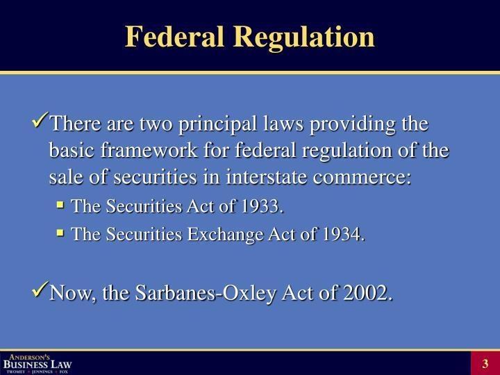 Federal regulation