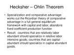 hecksher ohlin theorem