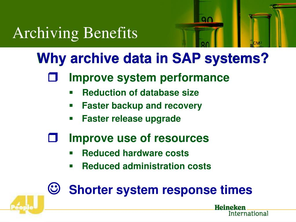 Archiving Benefits