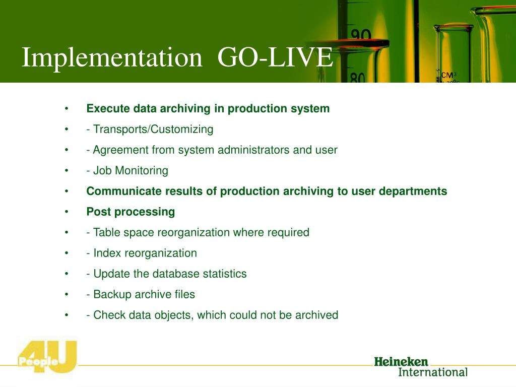 Implementation  GO-LIVE