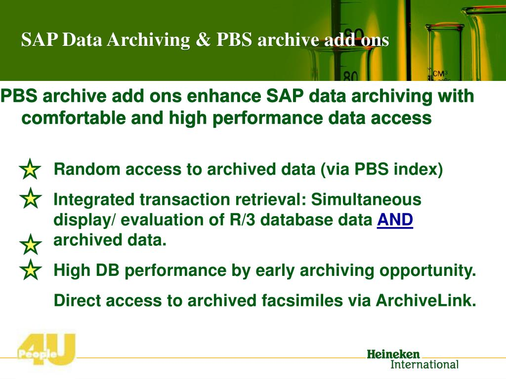 Random access to archived data (via PBS index)